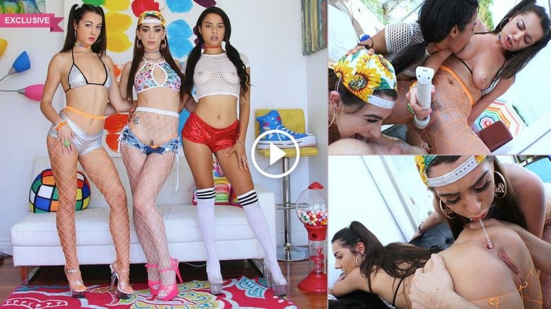 Joseline Kelly, Lily Adams, Maya Bijou - Superslut Sensation With Joseline, Lily & Maya (Teen, Young) Swallowed [SD 360p] (2018)
