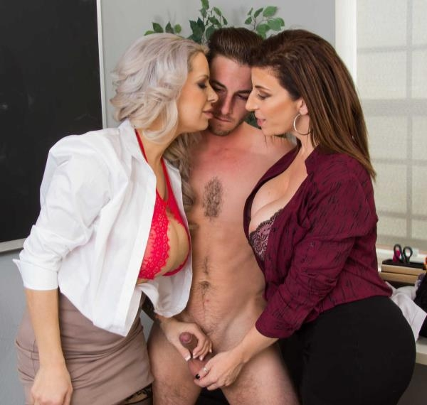 My First Sex Teacher (Blowjob) Alyssa Lynn, Sara Jay [HD 720p] (2018)