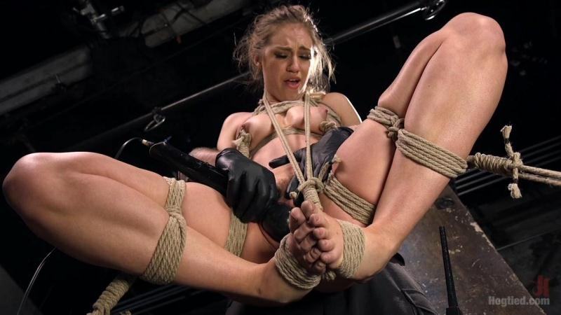 Young Blonde Babe is Devastated in Brutal Bondage and Made to Cum (Blonde) Hogtied [HD 720p] (2018)