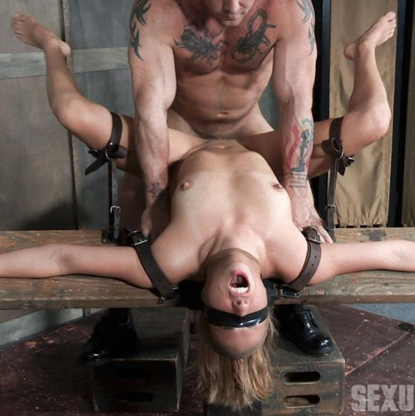 First ever porn shoot. Brutal throat fuckings, Anal fucking, with amazing bondage (Blonde) Julia Waters [HD 720p] (2018)