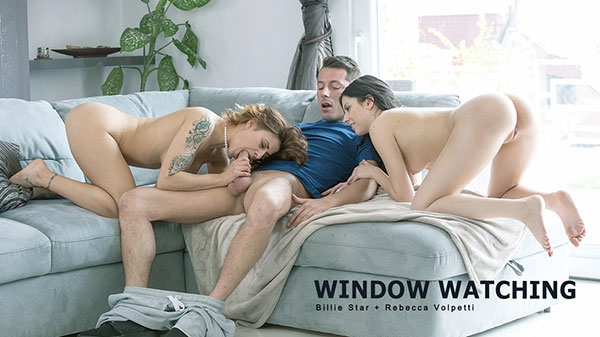 Window Watching (Blonde) Billie Star, Rebecca Volpetti [FullHD 1080p] (2018)