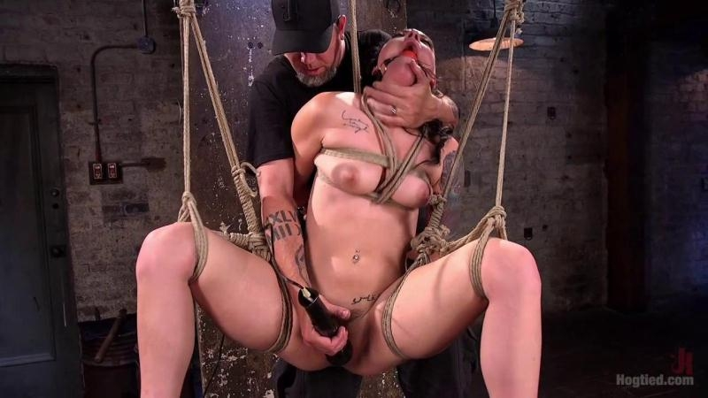 Slut Begs for Extreme Bondage and Grueling Torment to Make Her Cum (HD) Hogtied [HD 720p] (2018)