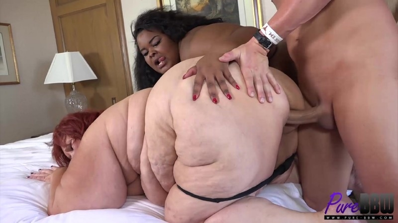 Megaboobs plumper takes big cock from behind 1