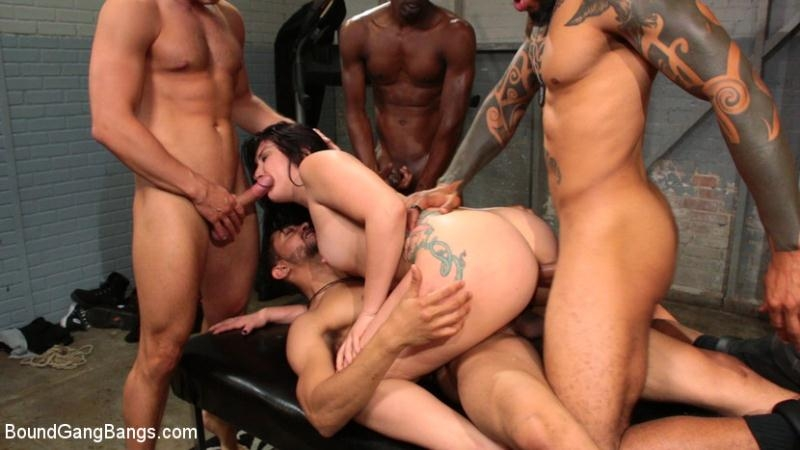 Mandy Muse - Mandy Muse Gets Her Big Ripe Ass Bound Up and Gangbanged (BDSM) BoundGangBangs.com [SD] (2018)