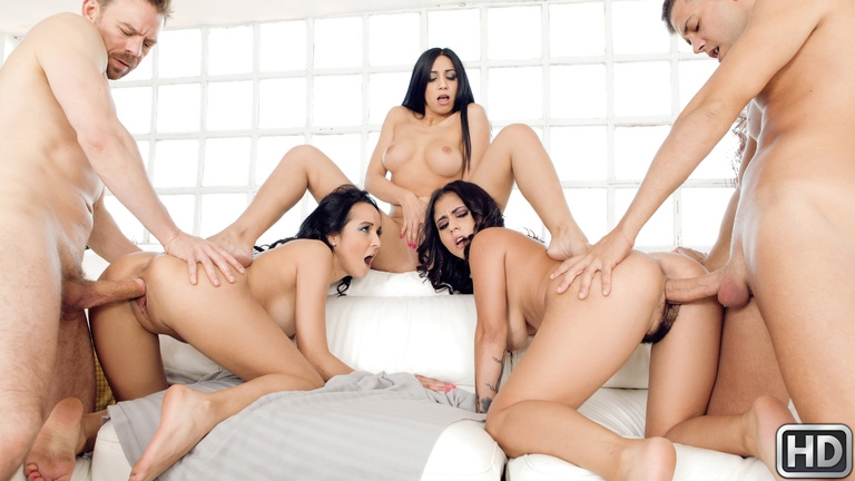 Julia De Lucia, Francys Belle, Aysha - Our Euro Sex Trip (Group, Gang Bang) EuroSexParties.com [HD 720p] (2018)