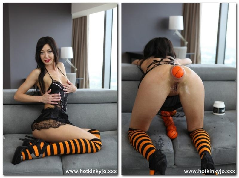Hotkinkyjo - Halloween anal ball fun (Fisting) Hotkinkyjo.com [HD 720p] (2017)