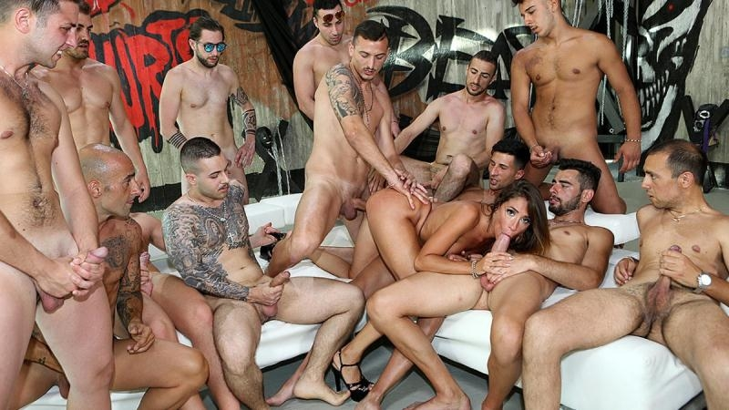 Malena - Malena against all the cocks (Group, Gang Bang) PinkoClub.com [FullHD 1080p] (2017)