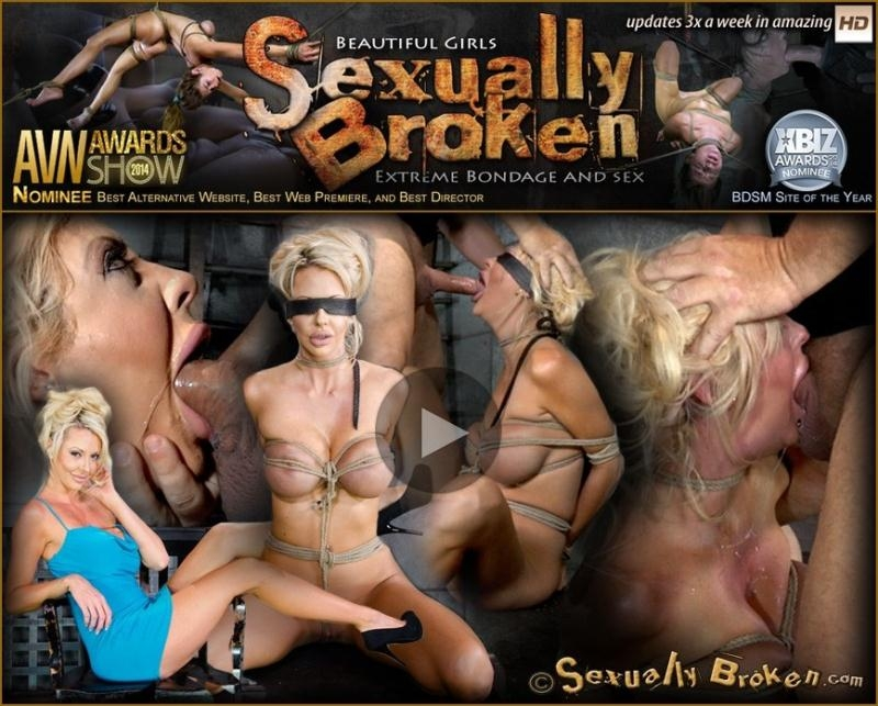 Courtney Taylor, Matt Williams - Big titted blonde Courtney Taylor bound blindfolded and facefucked, epic drooling deepthroating! (BDSM) SexuallyBroken.com [SD] (2018)