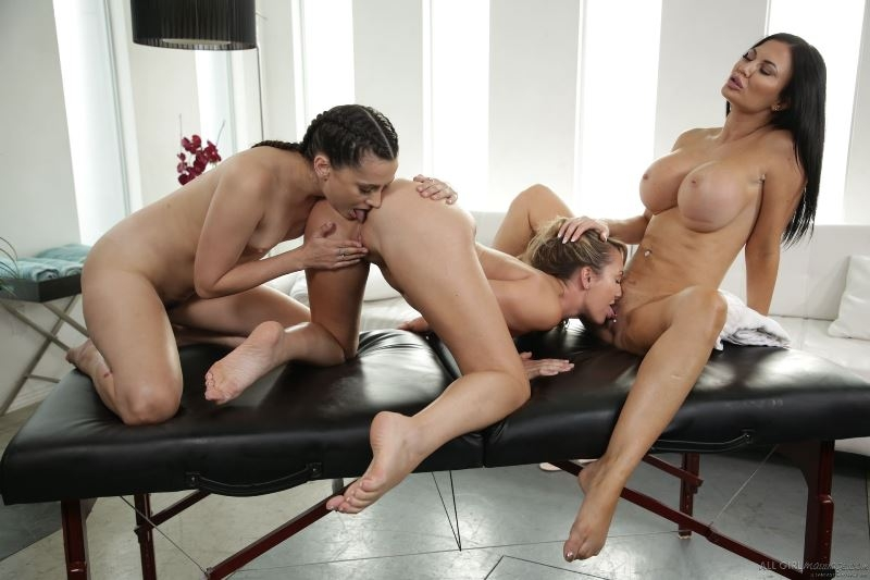 Brett Rossi, Jasmine Jae, Georgia Jones - Bring Your Daughter To Work Day () AllGirlMassage [SD] ()
