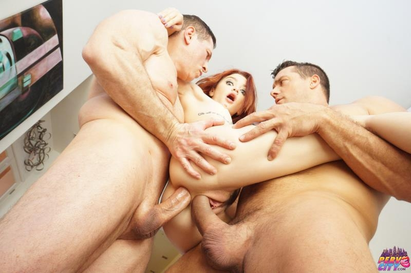 Lola Fae - Tiny Spinner Double Stuffed By Two Big Cocks (Teen, Young) AnalOverdose.com [SD] ()