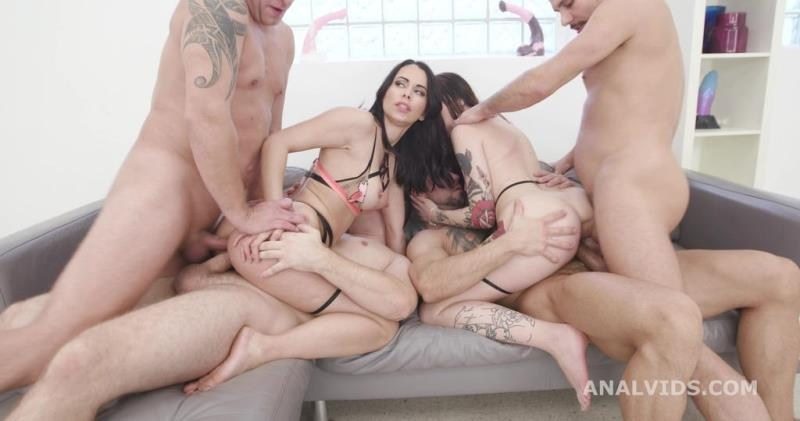 Jessy Jey  Giada Sgh - Thirsty Sluts Jessy Jey and Giada Sgh Vs 4 Boys with Balls Deep Anal, DAP, Gapes, Lots of Pee Drink, ATOGM, Squirting GIO1708 (Blowjob) AnalVids.com [SD]