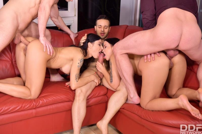 Billie Star, Jennifer Mendez - Lonely Guy Ambushes His Friends With Orgy At Dinner Party (Gangbang) HandsOnHardcore.com [SD]