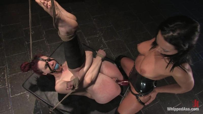 Claire Adams, Sandra Romain - Bondage with Strapon (Lesbian) WhippedAss [HD 720p] (2018)